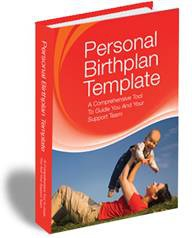 Ebook cover: Personal Birth Plan Template