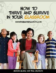 Ebook cover: How to Thrive and Survive in Your Classroom