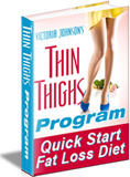 Ebook cover: The Thin Thighs Quick Start Fat Loss Diet