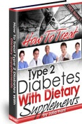 Ebook cover: How To Treat Type 2 Diabetes With Dietary Supplements