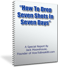 Ebook cover: How To Drop Seven Shots In Seven Days