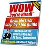 Ebook cover: WOW Youre Hired! Job Search System