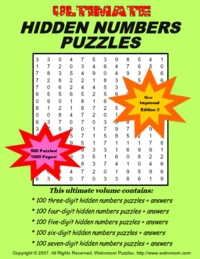 Ebook cover: Ultimate Hidden Numbers Puzzles