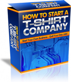 Ebook cover: How to start a T-Shirt company