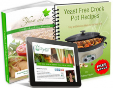 Ebook cover: Yeast Diet Cookbook and Meal Planning Guide