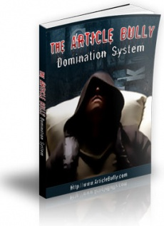 Ebook cover: The Article Bully Domination System