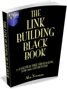 Ebook cover: The Link Building Black Book