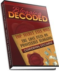 Ebook cover: Blogging Decoded