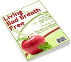Ebook cover: Living Bad Breath Free