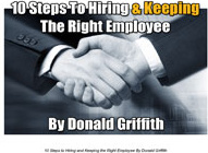 Ebook cover: 10 Steps to Hiring and Keeping the Right Employee