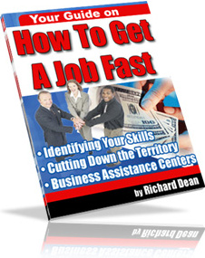 Ebook cover: How To Get A Job FAST!