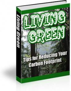 Ebook cover: Living Green: Tips for Reducing your Carbon Footprint