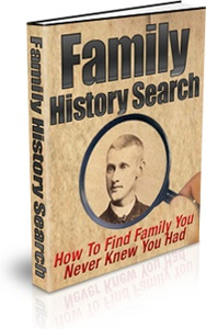 Ebook cover: Family History Search