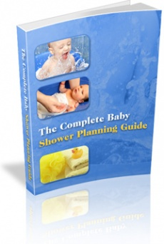 Ebook cover: The Complete Baby Shower Planning Guide