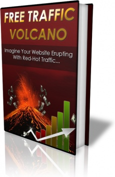 Ebook cover: Free Traffic Volcano