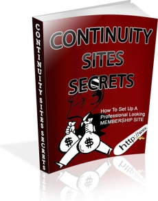 Ebook cover: Continuity Sites Secret