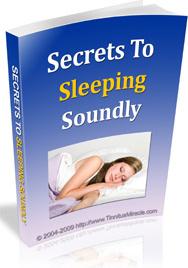 Ebook cover: Secrets To Sleeping Soundly