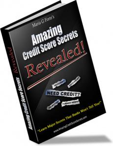 Ebook cover: Amazing Credit Score Secrets Revealed