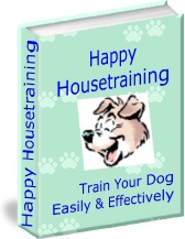 Ebook cover: Happy Housetraining: Train Your Dog Easily & Effectively