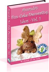 Ebook cover: Amandas Fun Cake Deocrating Ideas