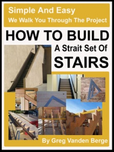 Ebook cover: How To Build Strait Stairs
