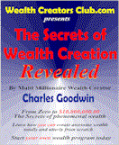 Ebook cover: The Secrets of Wealth Creation Revealed