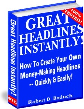 Ebook cover: Great Headlines Instantly
