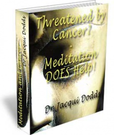 Ebook cover: Threatened by Cancer? Meditation DOES Help!