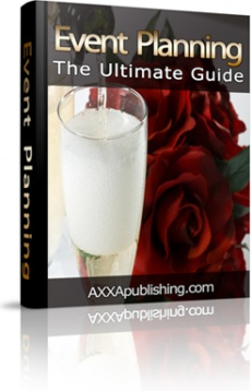 Ebook cover: Event Planning - The Ultimate Guide!