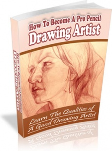 Ebook cover: How To Become A Professional Drawing Artist