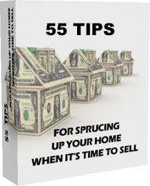 Ebook cover: 55 Tips for Sprucing Up Your Home