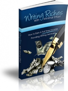 Ebook cover: Writing Riches With Minimal Effort