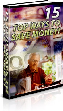 Ebook cover: 15 Ways To Save Money