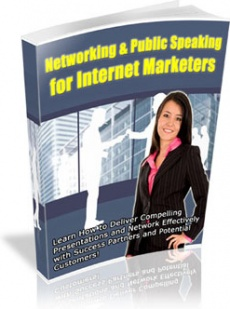 Ebook cover: Networking & Public Speaking for Internet Marketers