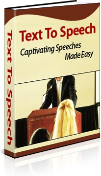 Ebook cover: Text To Speech:  Captivating Speeches Made Easy
