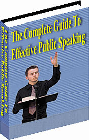 Ebook cover: The Complete Guide To Effective Public Speaking