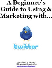 Ebook cover: A Beginners Guide to Using & Marketing with Twitter