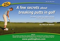 Ebook cover: A Few Secrets About Breaking Putts in Golf