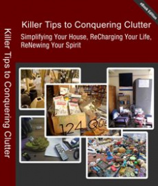 Ebook cover: Killer Tips to Conquering Clutter