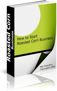 Ebook cover: How to start corn roasting business