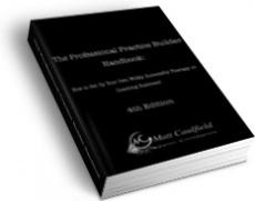 Ebook cover: The Professional Practice Builder Handbook