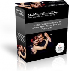 Ebook cover: Mole Warts Free In 3 Days