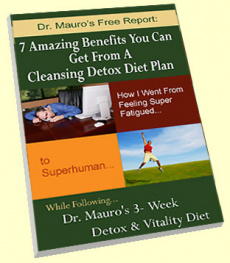 Ebook cover: Dr. Mauro 3 Week Detox & Vitality Diet Plan