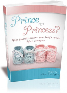 Ebook cover: Prince or Princess? - Choosing Your Baby Gender Before Conception