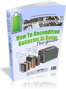 Ebook cover: How To Recondition Batteries At Home