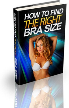 Ebook cover: Secrets To Finding The Right Bra Size