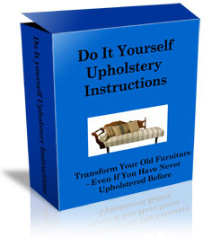 Ebook cover: Do It Yourself Upholstery Instructions