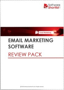 Ebook cover: Email Marketing Software Review Pack
