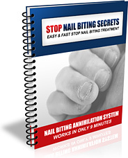 Ebook cover: Stop Nail Biting Secrets