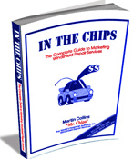 Ebook cover: In The Chips Windshield Repair Marketing